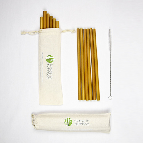 24 Pailles en bambou