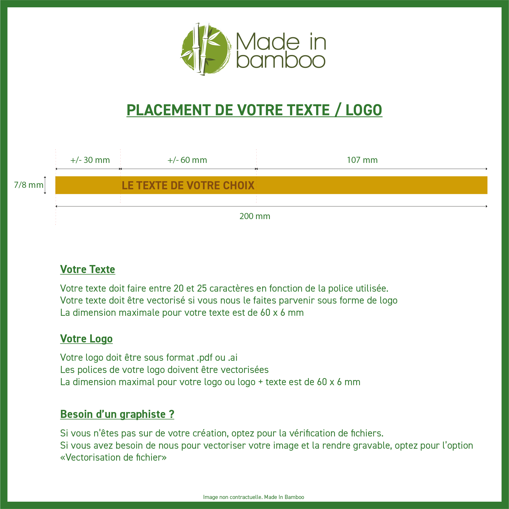 Placement Texte - Logo